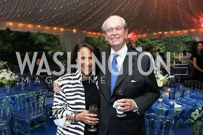 Gail West, Bill McSweeny. Photo by Tony Powell. 2019 Cafritz Welcome Back from Summer. September 8, 2019