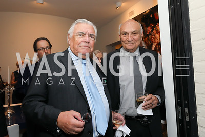 Roland Flamini, Michael Kahn. Photo by Tony Powell. 2019 Cafritz Welcome Back from Summer. September 8, 2019