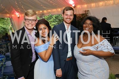 William Woodard, Marlen Nahhas, Thomas Morris, Rehanna Thelwell. Photo by Tony Powell. 2019 Cafritz Welcome Back from Summer. September 8, 2019