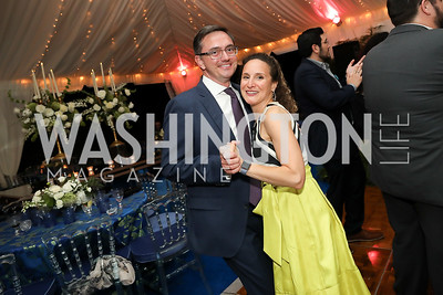 Tim and  Kara O'Leary. Photo by Tony Powell. 2019 Cafritz Welcome Back from Summer. September 8, 2019