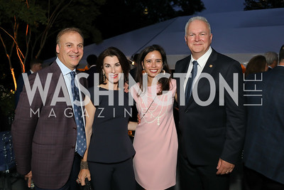 Adam and Tracy Bernstein, Ivonn Szeverenyi and  Hungary Amb. Laszlo Szabo. Photo by Tony Powell. 2019 Cafritz Welcome Back from Summer. September 8, 2019