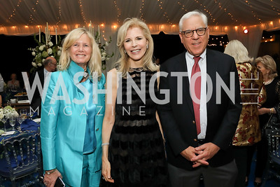 Susan Blumenthal, Jane Cafritz, David Rubenstein. Photo by Tony Powell. 2019 Cafritz Welcome Back from Summer. September 8, 2019
