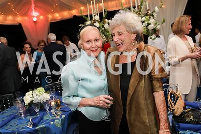 Evelyn DiBona, Marie Ridder. Photo by Tony Powell. 2019 Cafritz Welcome Back from Summer. September 8, 2019