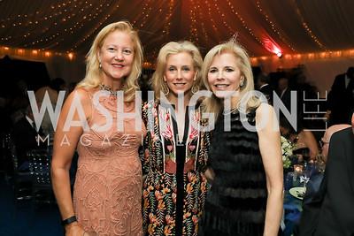 Anne Kline Pohanka, Katherine Bradley, Jane Cafritz. Photo by Tony Powell. 2019 Cafritz Welcome Back from Summer. September 8, 2019