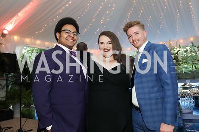 Joshua Blue, Alexandria Shiner, Samson McCrady. Photo by Tony Powell. 2019 Cafritz Welcome Back from Summer. September 8, 2019