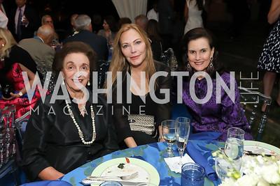 Lucky Roosevelt, Susan Lehrman, Alexandra de Borchgrave. Photo by Tony Powell. 2019 Cafritz Welcome Back from Summer. September 8, 2019