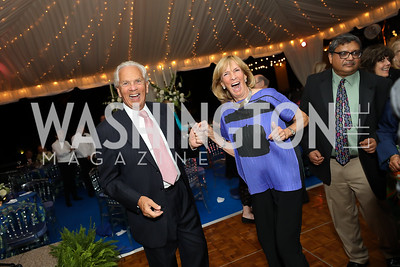 John Jeppson, Wendy Benchley. Photo by Tony Powell. 2019 Cafritz Welcome Back from Summer. September 8, 2019