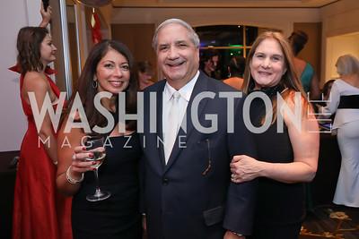 "Lina Cameron, Alan and Lisa Zuccari. Photo by Tony Powell. 2019 Capital Caring ""Passion for Caring"" Gala. Ritz Carlton Tysons Corner. November 16, 2019"
