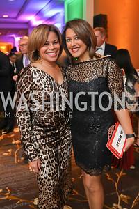 "Cheryl Cooper, Lesli Foster. Photo by Tony Powell. 2019 Capital Caring ""Passion for Caring"" Gala. Ritz Carlton Tysons Corner. November 16, 2019"