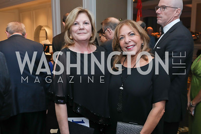 """Debbie Lyle, Sue Hargreaves. Photo by Tony Powell. 2019 Capital Caring """"Passion for Caring"""" Gala. Ritz Carlton Tysons Corner. November 16, 2019"""