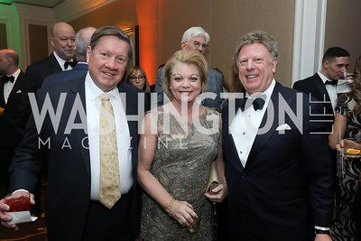 "Jack and Sharon Casey, Tom Koutsampas. Photo by Tony Powell. 2019 Capital Caring ""Passion for Caring"" Gala. Ritz Carlton Tysons Corner. November 16, 2019"