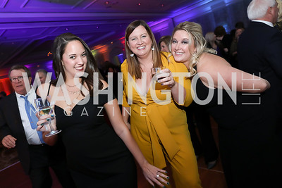 "Jessica Loveland, Shannon Taylor, Randi Lenzing. Photo by Tony Powell. 2019 Capital Caring ""Passion for Caring"" Gala. Ritz Carlton Tysons Corner. November 16, 2019"