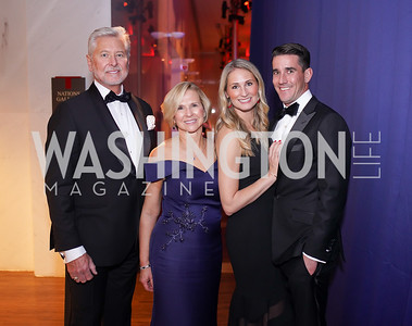 Marty and Sue Goodhart, Allison Goodhart-DuShuttle and Doug DuShuttle. Photo by Tony Powell. 2019 Choral Arts Gala. Kennedy Center. December 16, 2019