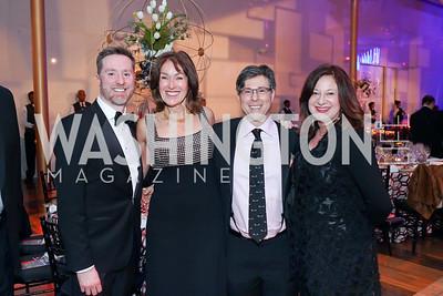 Tad Czyzewski, Debra Kraft Liberatore, Joel Friedman and Jenny Bilfield. Photo by Tony Powell. 2019 Choral Arts Gala. Kennedy Center. December 16, 2019