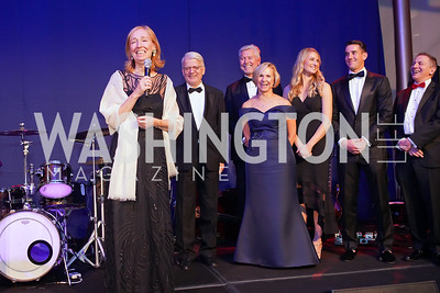 Germany Amb. Emily Haber and Hans Haber, Marty and Sue Goodhart, Allison Goodhart-DuShuttle and Doug DuShuttle, Scott Tucker. Photo by Tony Powell. 2019 Choral Arts Gala. Kennedy Center. December 16, 2019.JPG