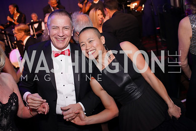 Scott and Julie Tucker. Photo by Tony Powell. 2019 Choral Arts Gala. Kennedy Center. December 16, 2019