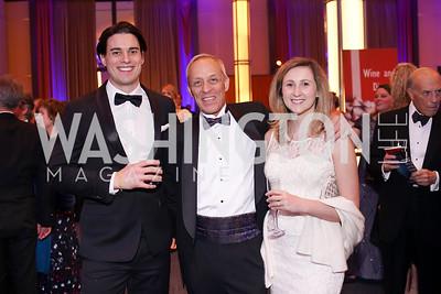 Steven Fleming, Kenyon Erickson, Ali Fleming. Photo by Tony Powell. 2019 Choral Arts Gala. Kennedy Center. December 16, 2019