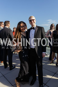Christina Won, Marshall Cohen Photo by Naku Mayo The Daily Beast WHCD Cocktail Party April 27, 2019