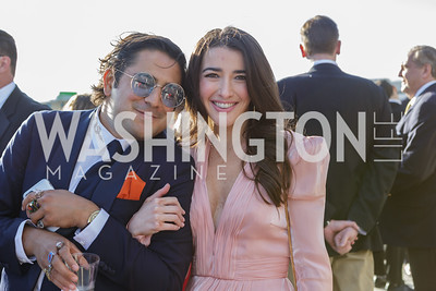 Akbar Ahmed, Elaina Plott Photo by Naku Mayo The Daily Beast WHCD Cocktail Party April 27, 2019