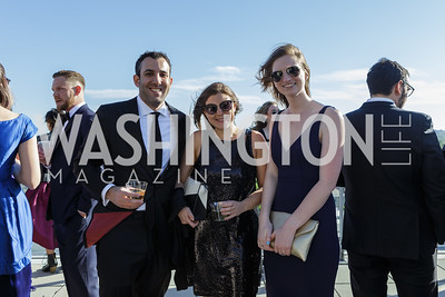 Simon Behrmann, Rachel Winer Deborah Birch Photo by Naku Mayo The Daily Beast WHCD Cocktail Party April 27, 2019