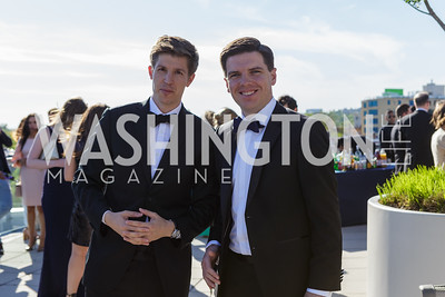 Kyle Dropp and Adam Collins Photo by Naku Mayo The Daily Beast WHCD Cocktail Party April 27, 2019
