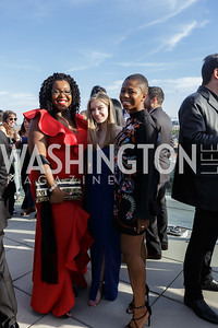 Nkechi nneji, Julia Clancy,  Tomi Adeboyejo Photo by Naku Mayo The Daily Beast WHCD Cocktail Party April 27, 2019