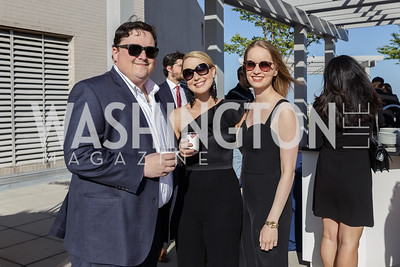 Adam Hainsfurther, Maggie Voelzke, Jennifer Sharkey Photo by Naku Mayo The Daily Beast WHCD Cocktail Party April 27, 2019