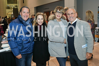 Italo Rodriguez, Mercedes Grovas, Teresa and Joe Farruggio. Photo by Tony Powell. 2019 Flicks 4 Change. Reagan Building. November 10, 2019