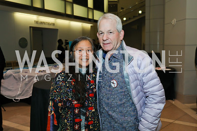 Alice Ng, Ken Wyner. Photo by Tony Powell. 2019 Flicks 4 Change. Reagan Building. November 10, 2019