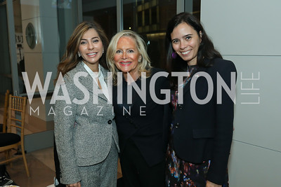 Yasmine Askelani, Deborah Sigmund, Ivonn Szeverényi. Photo by Tony Powell. 2019 Flicks 4 Change. Reagan Building. November 10, 2019
