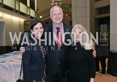 Ivonn Szeverényi and Hungary Amb. Laszlo Szabo, Barbara Hawthorn. Photo by Tony Powell. 2019 Flicks 4 Change. Reagan Building. November 10, 2019
