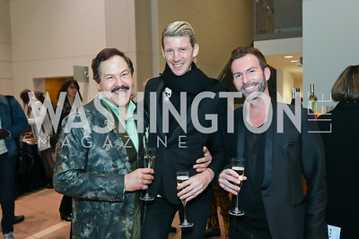 Jose Alberto Ucles, Jacob Lahr and Aaron Ridge. Photo by Tony Powell. 2019 Flicks 4 Change. Reagan Building. November 10, 2019