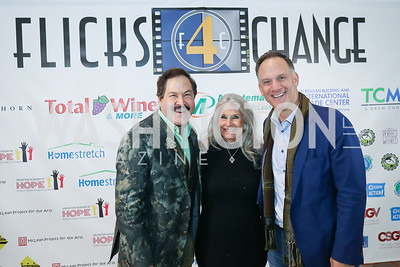 Jose Alberto Ucles, Barbara Hawthorn, Greg Kimsey. Photo by Tony Powell. 2019 Flicks 4 Change. Reagan Building. November 10, 2019