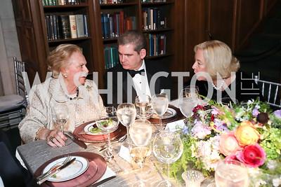 Jacqueline Badger Mars, Caleb Ward, Betsy Kleeblatt. Photo by Tony Powell. 2019 Folger Gala. April 15, 2019