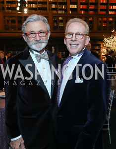 Joseph Perta, Jim Burns. Photo by Tony Powell. 2019 Folger Gala. April 15, 2019