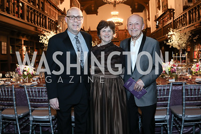 Craig Pascal, Janet Griffin, Victor Shargai. Photo by Tony Powell. 2019 Folger Gala. April 15, 2019