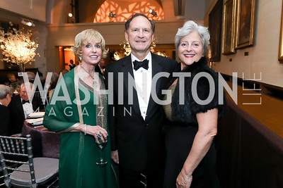 Kathy Kemper, Justice Samuel Alito and Martha Ann Alito. Photo by Tony Powell. 2019 Folger Gala. April 15, 2019