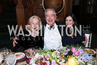 Betsy Kleeblatt, Philip Bermingham, Joyce Ward. Photo by Tony Powell. 2019 Folger Gala. April 15, 2019