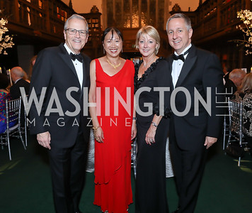 Mike Williams, May Liang, Kathie Williams, Jim Lintott. Photo by Tony Powell. 2019 Folger Gala. April 15, 2019