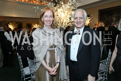 Germany Amb. Emily Hader, Richard Levy. Photo by Tony Powell. 2019 Folger Gala. April 15, 2019