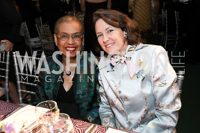 Rep. Eleanor Holmes Norton, Margaret Gardner. Photo by Tony Powell. 2019 Folger Gala. April 15, 2019