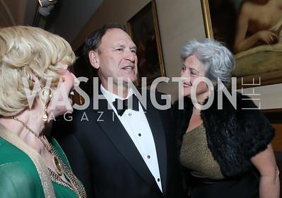 Kathy Kemper, Justice Samuel Alito and Martha Ann Alito. Photo by Tony Powell. 2019 Folger Gala. April 15, 2019