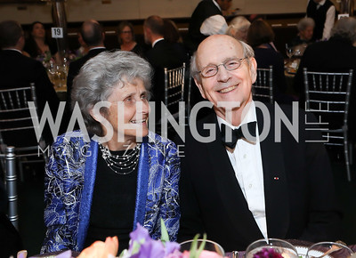Joanna Breyer and Justice Stephen Breyer. Photo by Tony Powell. 2019 Folger Gala. April 15, 2019