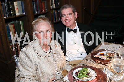 Jacqueline Badger Mars, Caleb Ward. Photo by Tony Powell. 2019 Folger Gala. April 15, 2019