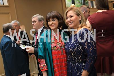 Mina Sherzoy, Fatima McKinley. Photo by Tony Powell. 2019 AUAF Gala. Four Seasons. June 17, 2019