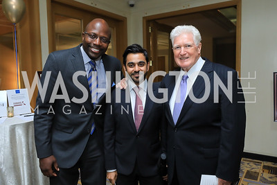 Reggie Love, Hamad Al-Muftah, Rep. Jim Moran. Photo by Tony Powell. 2019 AUAF Gala. Four Seasons. June 17, 2019