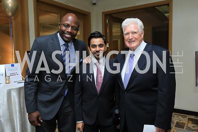 Reggie Love, Hamad Al-Muftah, Rep. Jim Moran. Photo by Tony Powell. 2019 AUAF Gala. Four Seasons. June 17, 2019