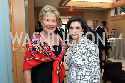 Leslie Schweitzer, Maria Schory. Photo by Tony Powell. 2019 AUAF Gala. Four Seasons. June 17, 2019