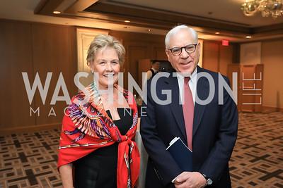Leslie Schweitzer, David Rubinstein. Photo by Tony Powell. 2019 AUAF Gala. Four Seasons. June 17, 2019