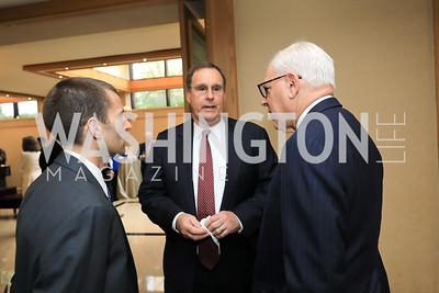 Carter Malkasian, David Sedney, David Rubinstein. Photo by Tony Powell. 2019 AUAF Gala. Four Seasons. June 17, 2019